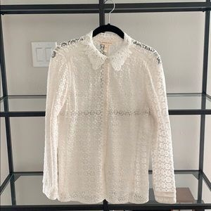 Rebecca Taylor Lace Blouse *only worn once!*